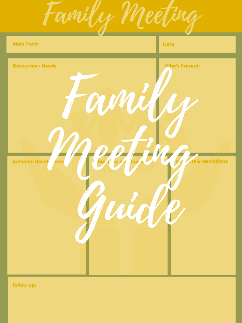 Family Meeting Guide